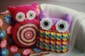 almofada croche colorida - Buscar con Google