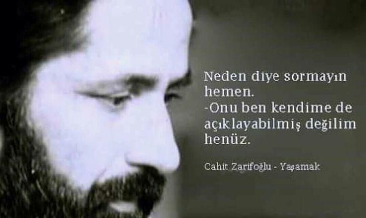 Neden diye sormayın hemen. Onu ben kendi kendime de açıklayabilmiş değilim henüz. - Cahit Zarifoğlu / Yaşamak #sözler #anlamlısözler #güzelsözler #manalısözler #özlüsözler #alıntı #alıntılar #alıntıdır #alıntısözler #şiir #edebiyat