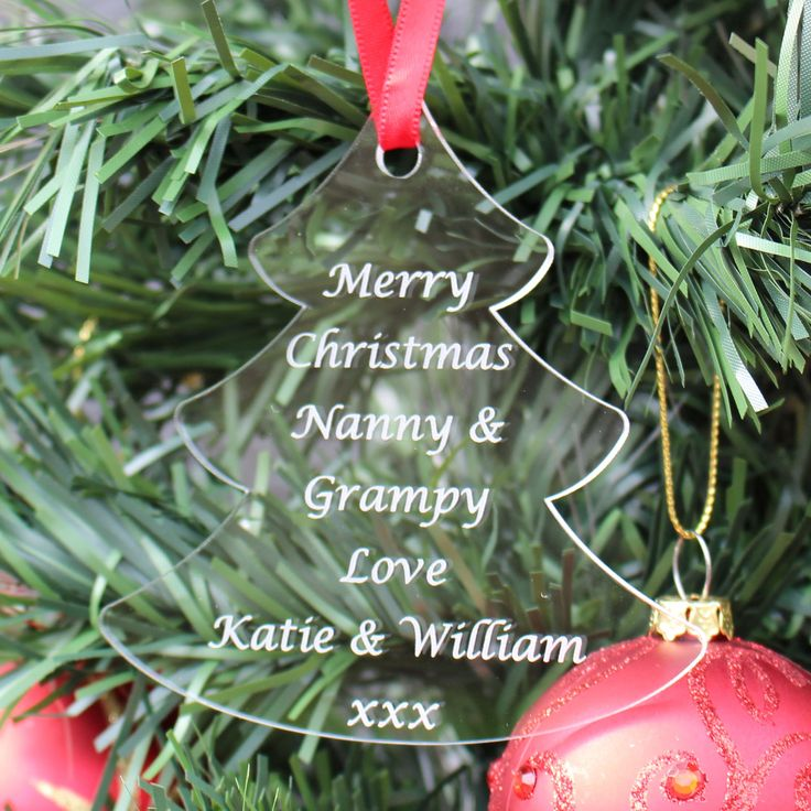 Unusual personalised gift for children to give their grandparents Perfect to show how much they love them this Christmas Attractively engraved quality clear acrylic - precision laser cut Also includes children's names FREE 1st class postage (UK only)