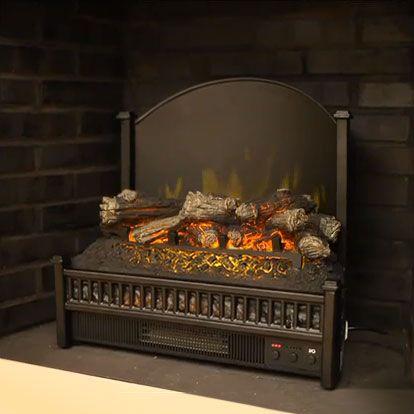 Comfort Smart 23-Inch Deluxe Electric Fireplace Insert/Log Set w/ Back Screen - ELCG347