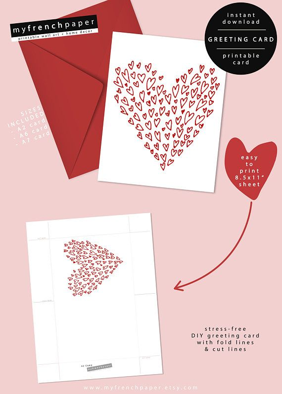 Friend Valentines Day Card Printable Friend Valentine Card A