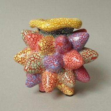 A Tutti Frutti Baby Bud | Pebble-glazed earthenware | Kate Malone, 2008