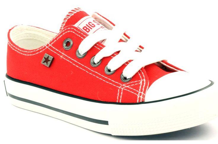 #Trampki #Dla dzieci #BigStar #Czerwone #Białe #Trampki #Tenisówki #Wiązane #Big #Star #374002 #Big #Star