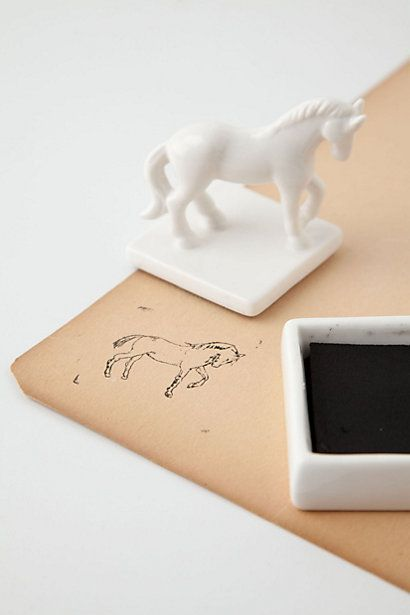 Ceramic horse stamper - Anthropologie
