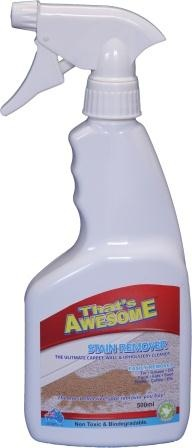 500ml Trigger Spray Stain Remover - dissolves and extracts most kinds of spots and stains from carpets, upholstery and hard surfaces without leaving a sticky residue. Stain Remover 550ml is ON SALE and costs only $17.96. Buy NOW!!!!!!