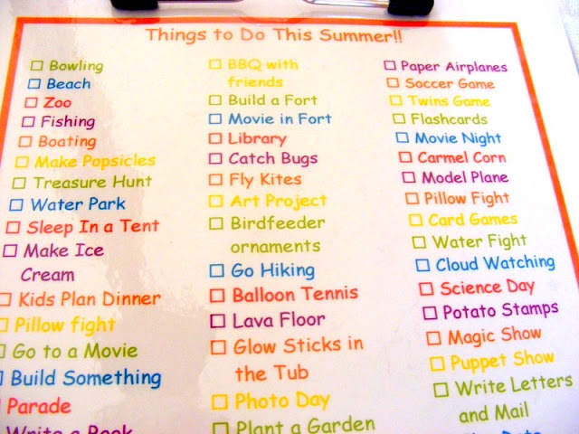 Summer Fun LIst - this looks like fun with my kids, i might have to try this one out :)