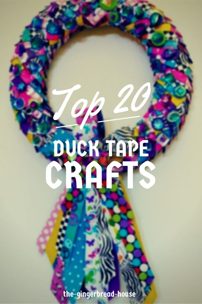 Top 20 Duck Tape (or Duct Tape) crafts - the gingerbread house