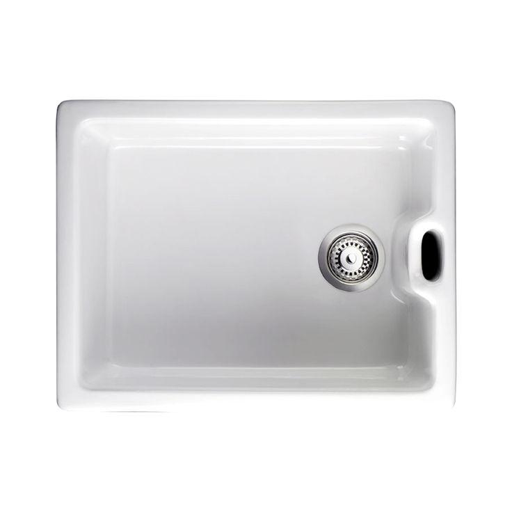 Rangemaster Belfast 1.0 Bowl White Ceramic Kitchen Sink CCBL595    Rangemaster From TAPS UK