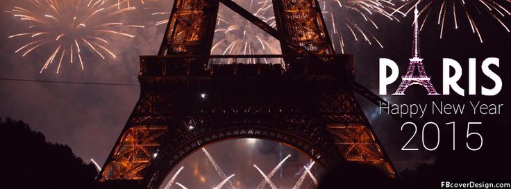 Happy New Year Paris 2015 Facebook Covers | fbcoverdesign.com