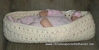 Baby Cocoon Pod - free crochet pattern