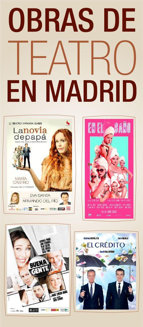 4 obras para disfrutar del #teatro en #Madrid. Si eres de los que disfruta del teatro, entonces Ocioneo es ideal para ti. #infografía #infographic