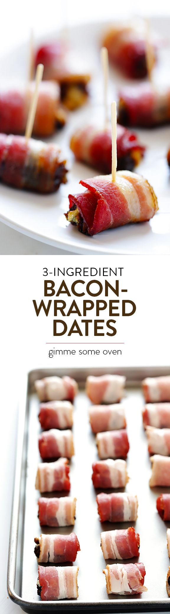 All you need are 3 ingredients to make this delicious, easy appetizer!  They're always the hit of a party! | gimmesomeoven.com