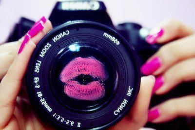snap!: A Kiss, Makeup Tips, Pucker Up, Inspiration Pictures, Pink Lips, Camera Lens, Hot Pink, Pretty Pink Nails, Photo
