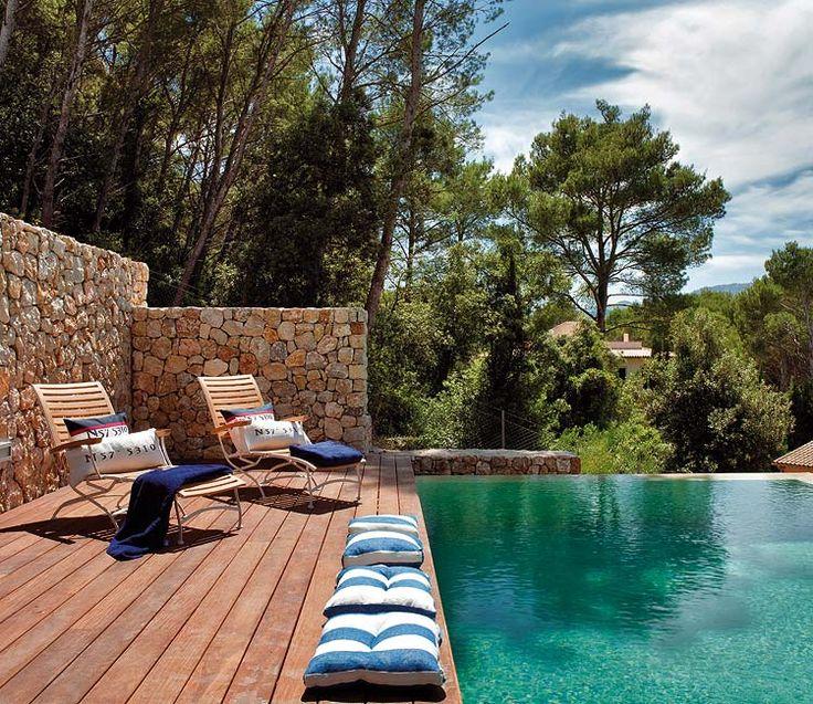1000 ideas sobre piscinas de piedra en pinterest nueva - Piedras para piscinas ...