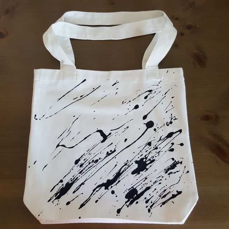Paint Splatter Bag -  by Grafeeq on Etsy