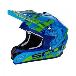 Scorpion Crosshelm VX-15 Evo Air Kistune Blue/Green
