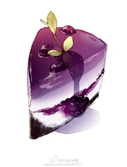Blueberry cake ~ huaban illustration