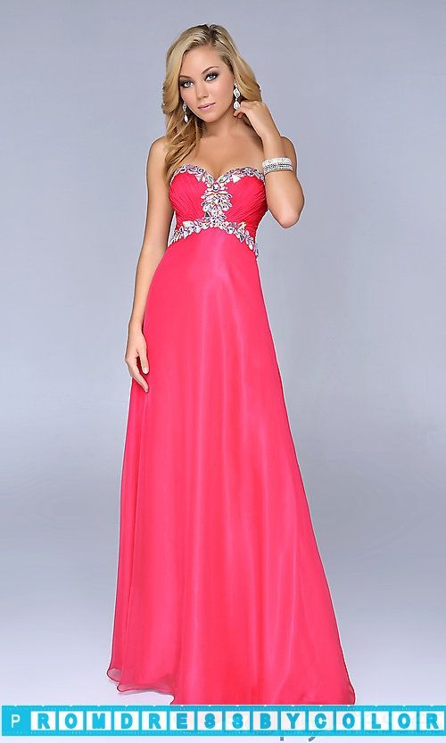 $173 Red Prom Dresses - Floor Length Strapless Nina Canacci Dress at www.promdressbycolor.com #Red Prom Dresses