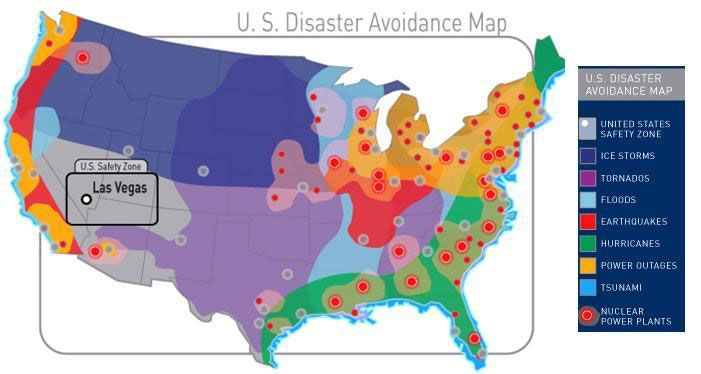 US Disaster Avoidance Map  Emergency Prep  Pinterest
