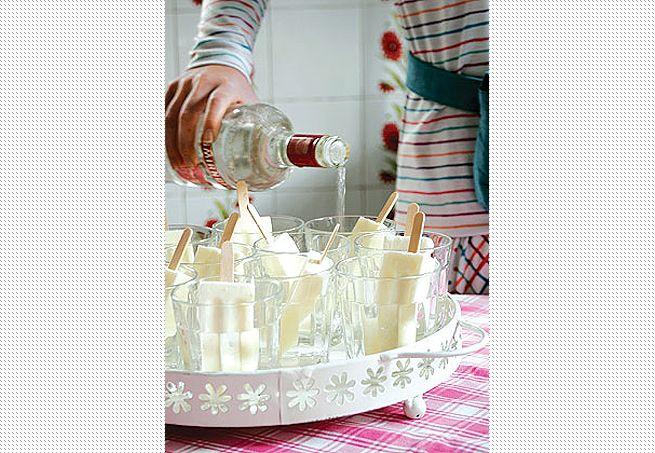Para facilitar o preparo de drinques, uma sugestão deliciosa. Coloque picolés de coco em copos de vidro e derrube uma dose de vodca em cada um deles. O sorvete tem dupla função: dá o gostinho e gela a bebida Arquivo / Casa e Jardim