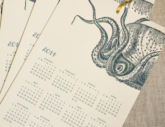 2014 Letterpress Wall Calendar by SPOON & SAILOR