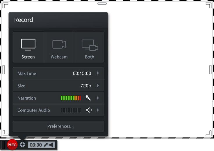 Screencast-o-matic. Capturador de pantalla que permite hacer vídeos de hasta 15 minutos de duración y subirlos a Youtube. Graba lo que tengamos en la pantalla del ordenador y la locución que hagamos para acompañar. Es útil para hacer tutoriales. Funciona on line o descargado en el ordenador, menos en ordenadores con Windows 10 (en estos solo on line).