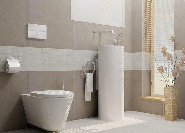 Fliesen Grau Badezimmer Modern Beige Grau Ihausdekor Badezimmer Modern  (595×427) | Möbler | Pinterest