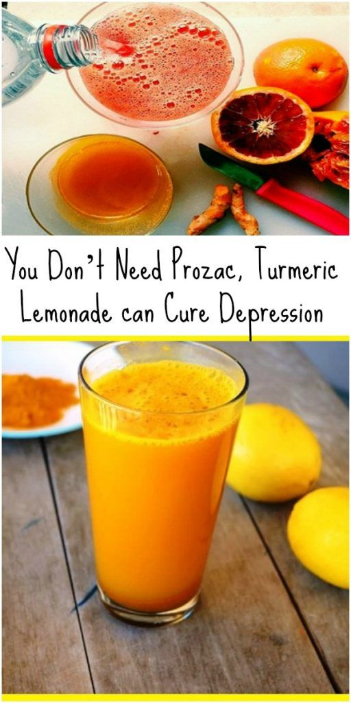 You Don't Need Prozac, Turmeric Lemonade can Cure Depression