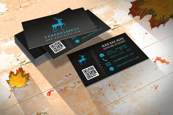 Check out Retro Business Card/ Pixel & Wild by NicuB on Creative Market