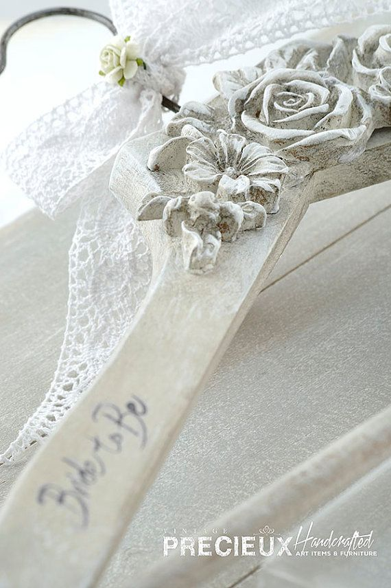 Wedding Dress Vintage Hangershabby chic wedding by vintagePRECIEUX