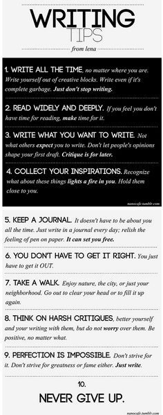 Writing tips infographic for your #NaNoWriMo novel. #writingtips