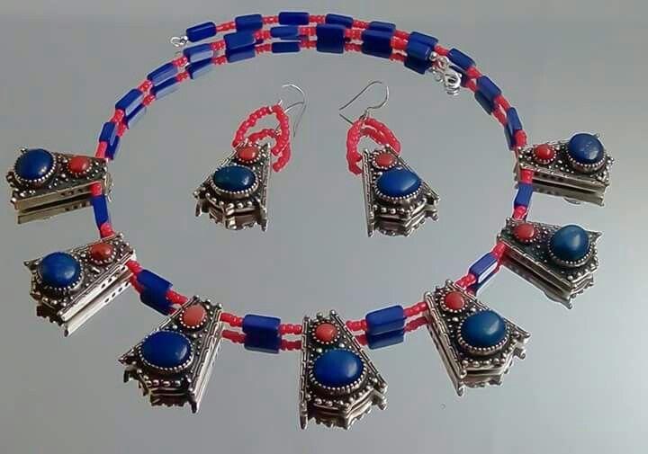 Orlov Jewellery-German silver,lapis lazuli,Coral