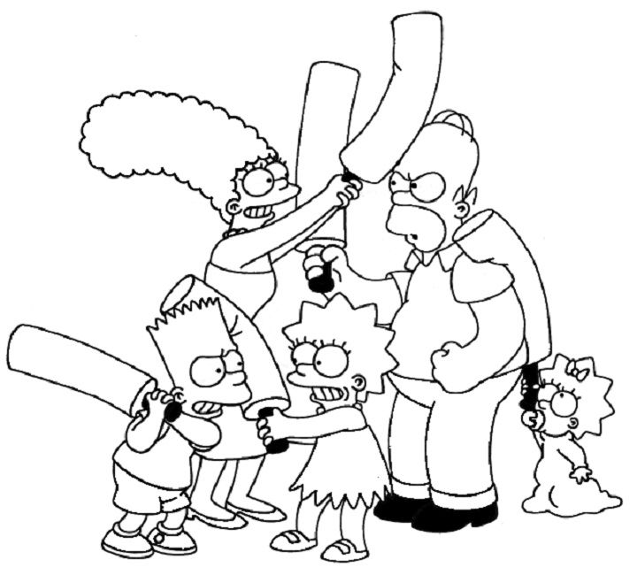 the simpsons coloring pages printable cartoon pinterest adult coloring and coloring books