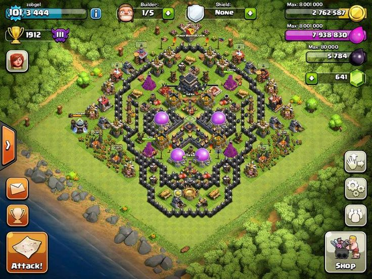 clash of clans base glitch 2014