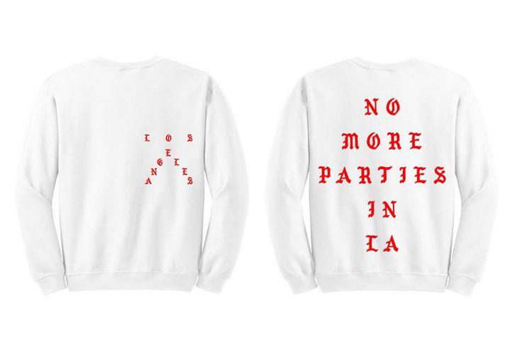 """Kanye West Released New """"No More Parties in LA"""" Sweatshirt"""