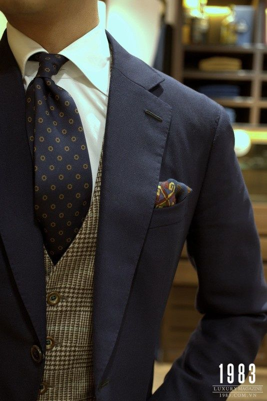 navy blazer, subtle prints