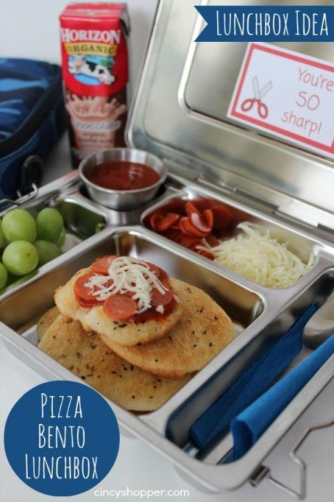 Pizza Bento Lunchbox Recipe
