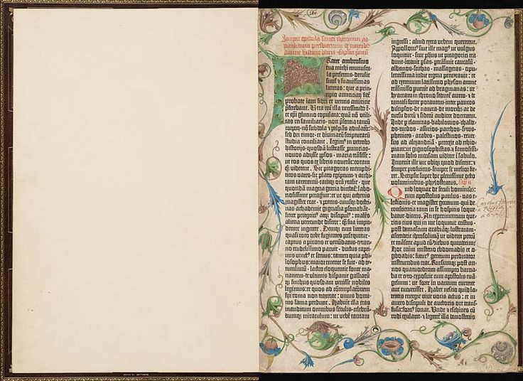 Letter of Saint Jerome to Paulinus, Flyleaf–1r | The Morgan Gutenberg Bible Online | The Morgan Library & Museum