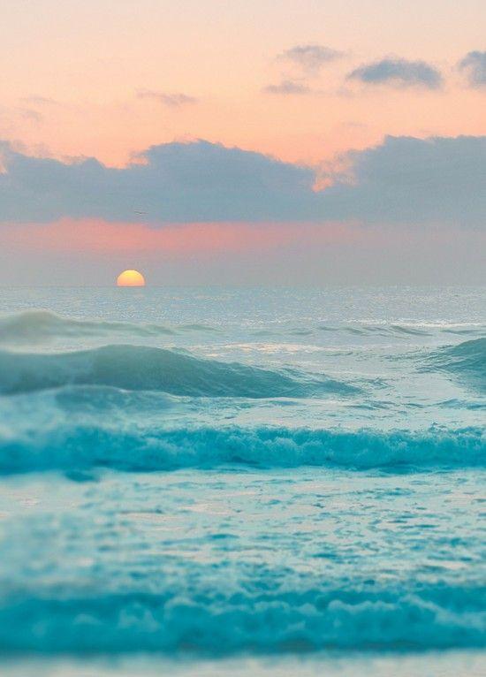 Summer ocean sunset