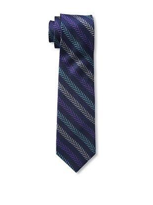 65% OFF Ben Sherman Men's Textured Stripe Tie, Purple