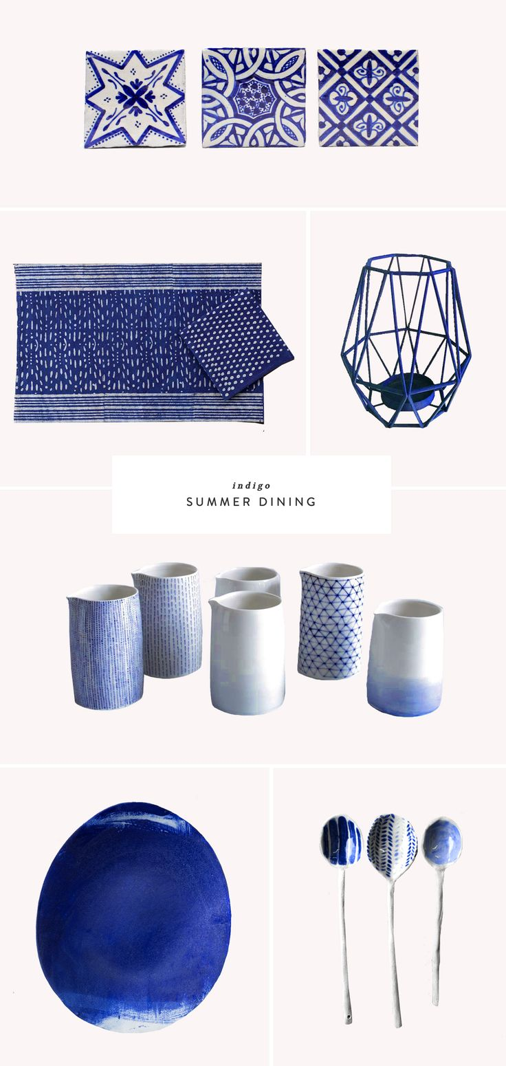 Indigo Summer Dining | etsy finds | entertaining | garden