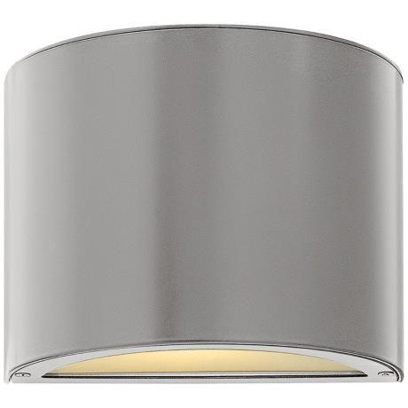 "Hinkley Luna Down 9"" Wide Titanium Outdoor Wall Light - $175"