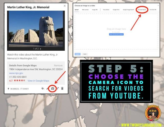 "Did you know you can add YouTube videos to Google My Maps? In this tutorial on making your own Google My Maps for your students, I show you how I made a map to explore the sites associated with Martin Luther King, Jr. Video adds the ""I am there"" element. Come check it out on my blog!"