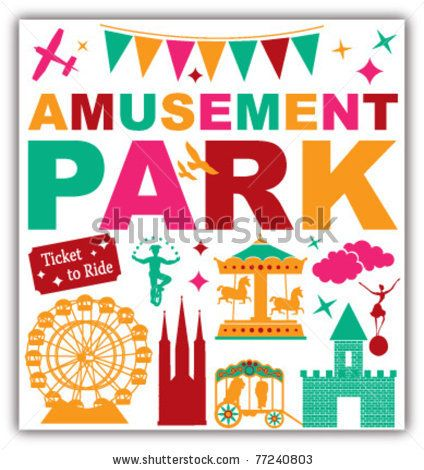 stock vector : amusement park