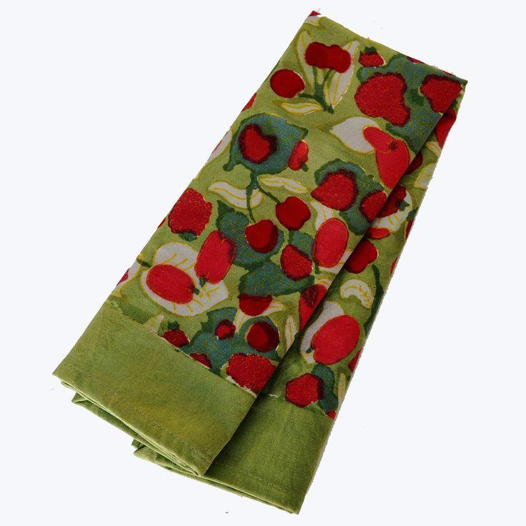 Fruit Red Green Tea Towel