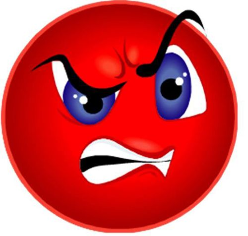 Angry smiley face emojis red angry smiley smiley emoticon - Emoticon diable ...
