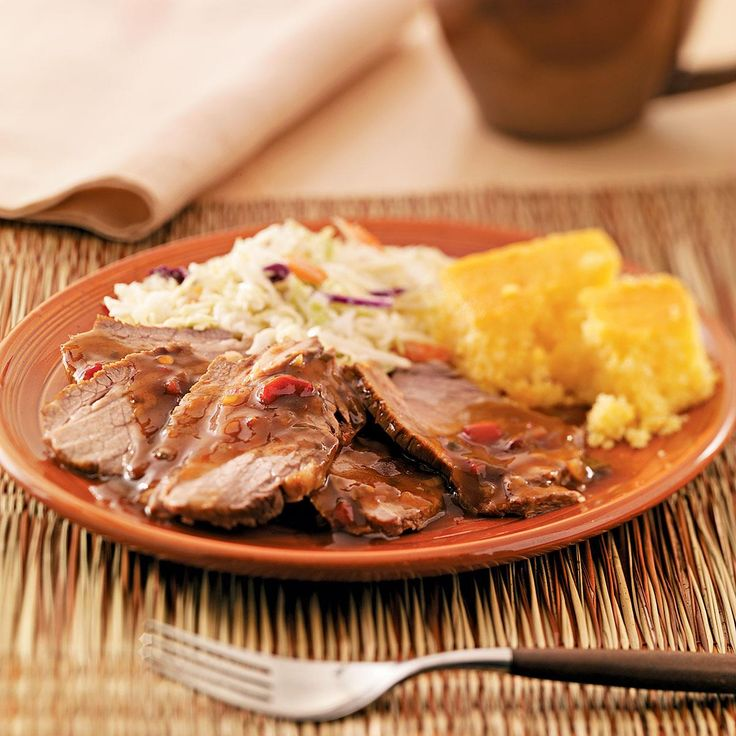 Tangy Beef Brisket Recipe -We like the sauce for my brisket over elk, moose and venison salami as well. And we also use it to spice hamburgers and hot dogs we sizzle on the grill. -Jacque Watkins, Green River, Wyoming