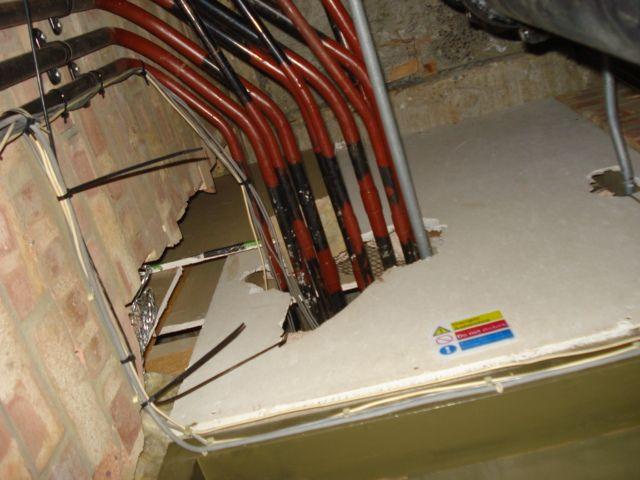 Damaged Asbestos Insulating Board Fire Break Mesothelioma Asbestos Medical Definition