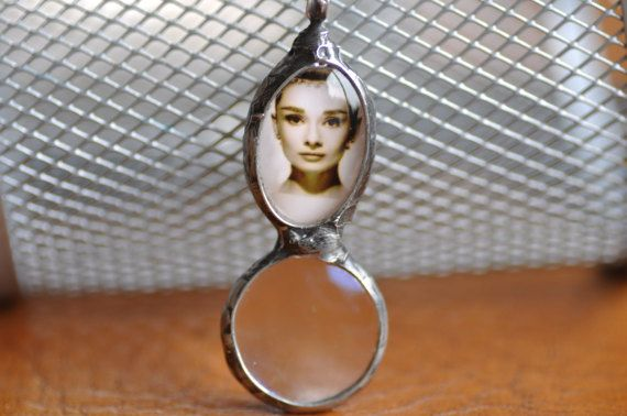 Unique loupe pendant mother gift magnifying glass and by zolanna