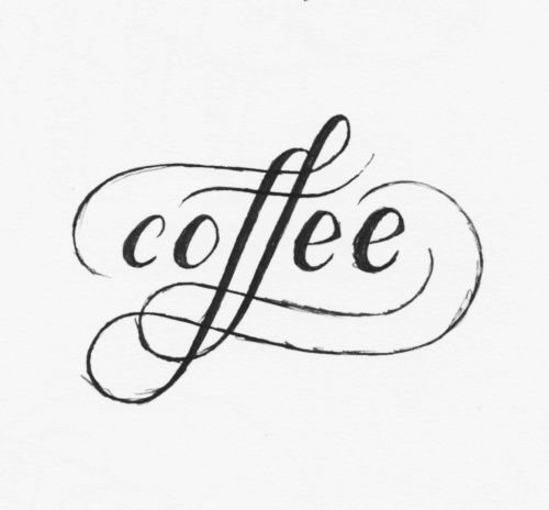 oh i love coffee ... & this font